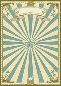 pic of funfair  - vintage certificate blue background - JPG