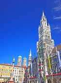 image of city hall  - Square of medieval city  - JPG