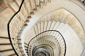 foto of spiral staircase  - Architecture detail shot with a spiral staircase - JPG