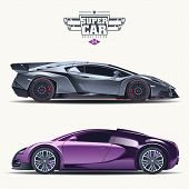 image of car symbol  - Super car design concept - JPG