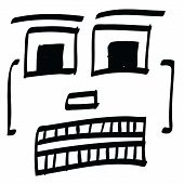 picture of feeling stupid  - vector illustration of face funny and bad - JPG