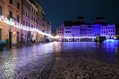 picture of adornment  - Festively adorned old town square in Warsaw - JPG
