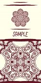 picture of karma  - Invitation card in oriental tribal style - JPG