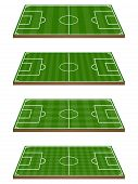 picture of offside  - Set of Football Fields 3D Perspective 2 with Horizontal and Vertical Pattern - JPG