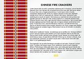 image of chinese crackers  - Red Vector Fire Crackers for Chinese New Year - JPG