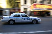 stock photo of nypd  - nypd in motion - JPG