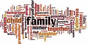 pic of niece  - Family word cloud concept isolated on white - JPG
