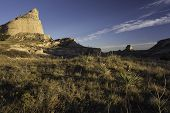 picture of western nebraska  - Scotts Bluff National Monument is located in western Nebraska - JPG