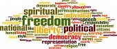 foto of freedom speech  - Freedom word cloud concept isolated on white - JPG