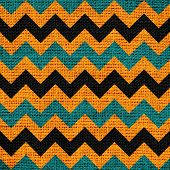 foto of zigzag  - Closeup burlap jute canvas vintage chevron zigzag textured background - JPG