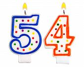 Постер, плакат: Birthday Candles Number Fifty Four