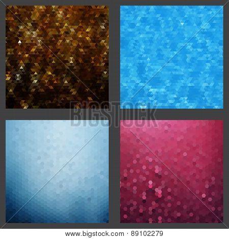 Geometric patterns set of four