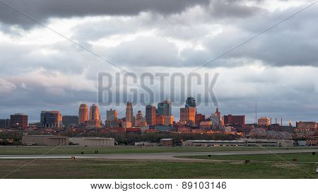 Kansas City Missourri Clay County Downtown City Skyline Sunrise