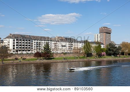 River Main in Frankfurt, Germany