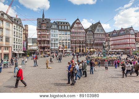 Roemerberg Square In Frankfurt Main