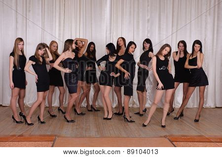 SYKTYVKAR, RUSSIA - MARCH 04, 2010: models of