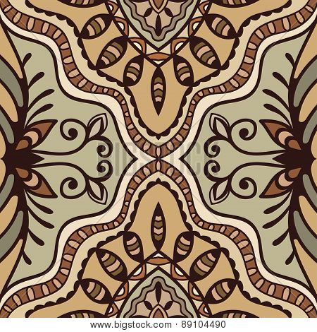 Vector geometric pattern with seamless texture. Tribal ethnic ornament