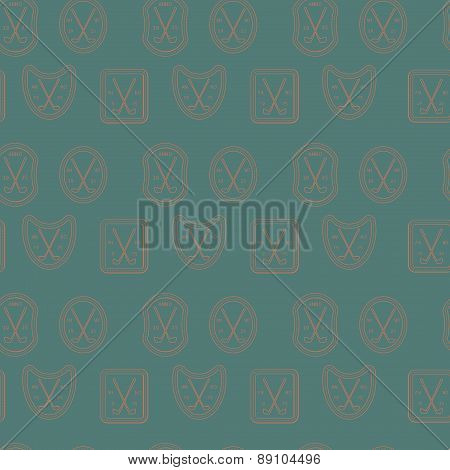 Golf sport clubs texture vector.