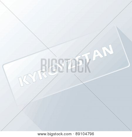 Kyrgyzstan unique button