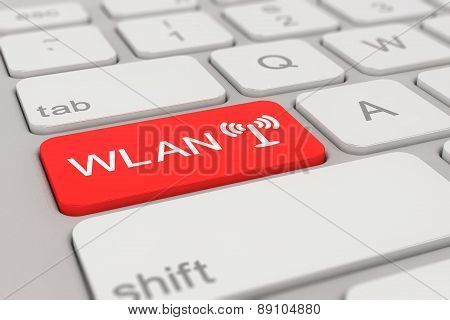 Keyboard - Wlan - Red