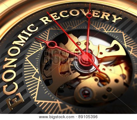 Economic Recovery on Black-Golden Watch Face.