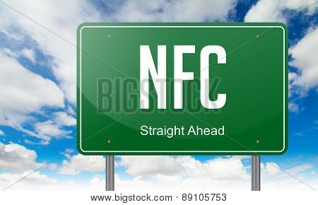NFC on Highway Signpost.