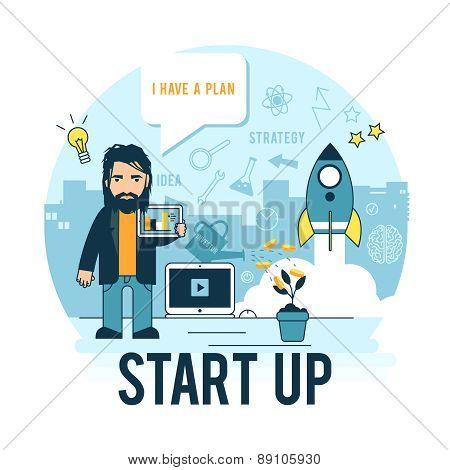 Start-up business.
