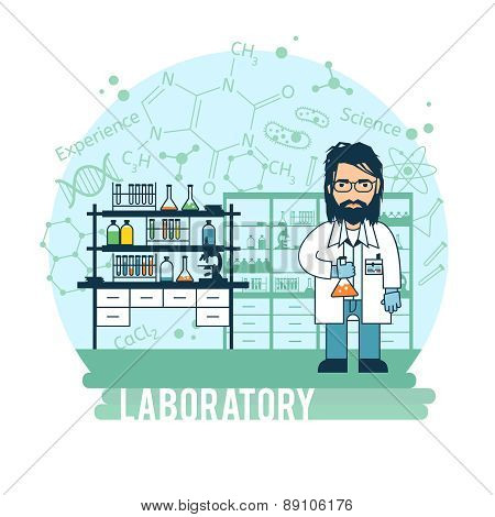 Scientist in laboratory experiments were conducted.