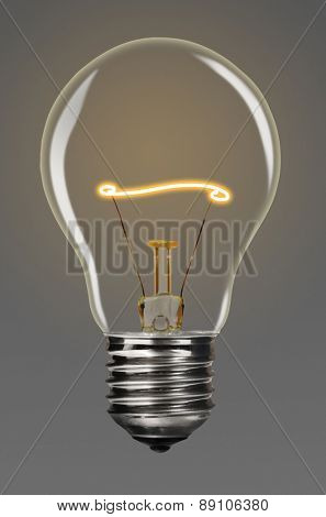 bulb with glowing line inside of it, creativity concept
