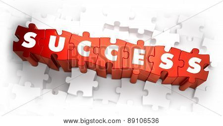 Success - Text on Red Puzzles.