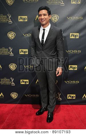 BURBANK - APR 26: Mario Lopez at the 42nd Daytime Emmy Awards Gala at Warner Bros. Studio on April 26, 2015 in Burbank, California