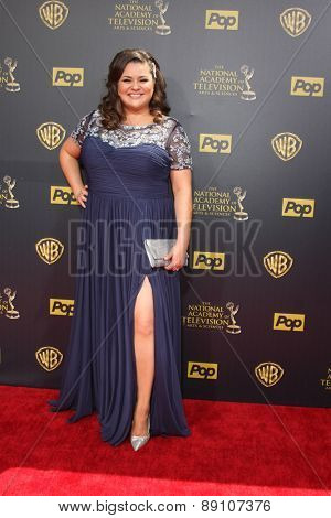LOS ANGELES - APR 26:  Angelica McDaniel at the 2015 Daytime Emmy Awards at the Warner Brothers Studio Lot on April 26, 2015 in Burbank, CA