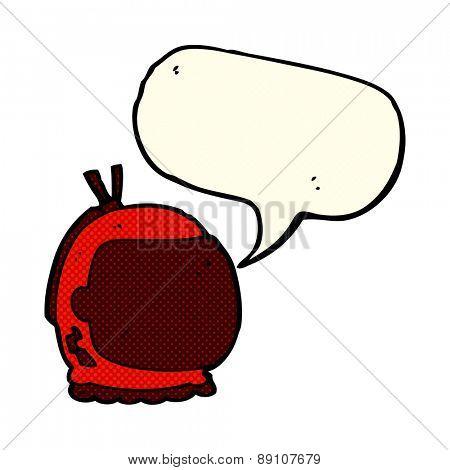 cartoon astronaut helmet with speech bubble