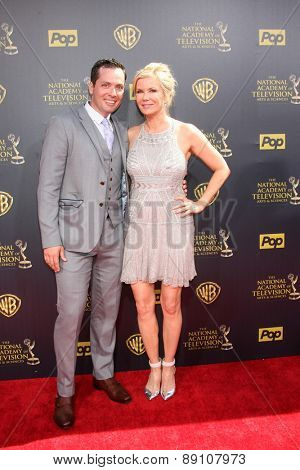LOS ANGELES - APR 26:  Katherine Kelly Lang at the 2015 Daytime Emmy Awards at the Warner Brothers Studio Lot on April 26, 2015 in Burbank, CA