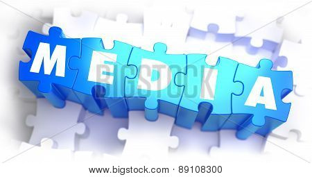 Media -  Word on Blue Puzzles.