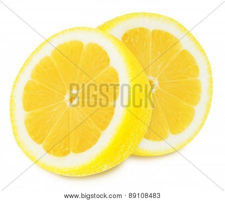 Juicy yellow lemons on a white background isolated