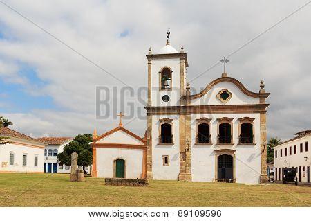 Church  In Paraty, State Rio De Janeiro, Brazil