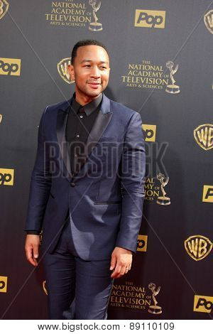 LOS ANGELES - APR 26:  John Legend at the 2015 Daytime Emmy Awards at the Warner Brothers Studio Lot on April 26, 2015 in Burbank, CA