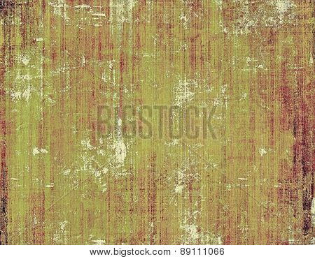 Abstract composition on textured, vintage background with grunge stains. With different color patterns: yellow (beige); brown; gray