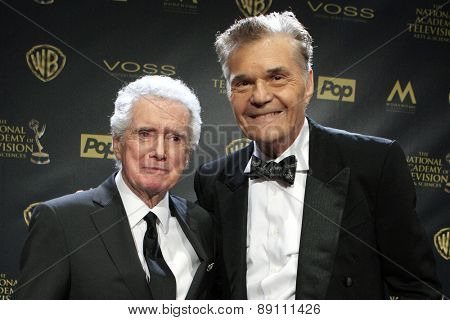 BURBANK - APR 26: Regis Philbin, Fred Willard at the 42nd Daytime Emmy Awards Gala at Warner Bros. Studio on April 26, 2015 in Burbank, California