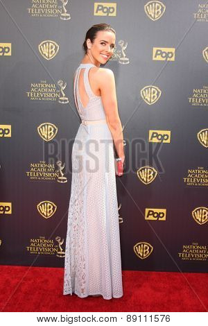 LOS ANGELES - APR 26:  Ashleigh Brewer at the 2015 Daytime Emmy Awards at the Warner Brothers Studio Lot on April 26, 2015 in Burbank, CA