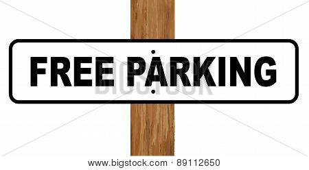 Free Parking Sign