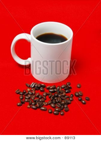 Coffe Cup And Beans 3