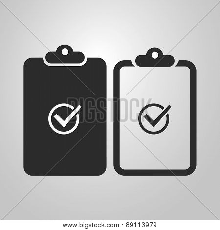 Checklist Icon Design - Black and White and Linear Version