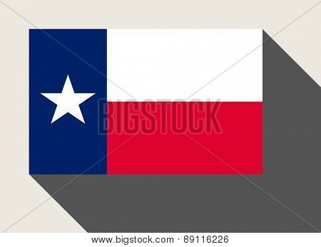 American State of Texas flag in flat web design style.