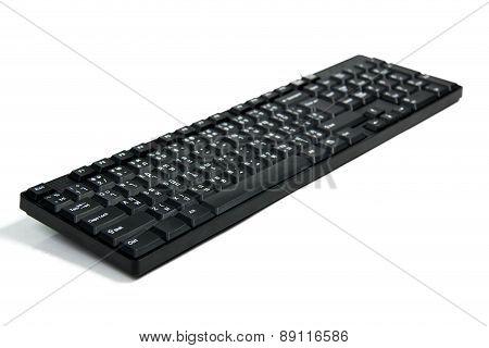Black Keyboard Keys  Computer On  White Backgrond