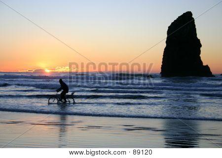 Biking In The Surf