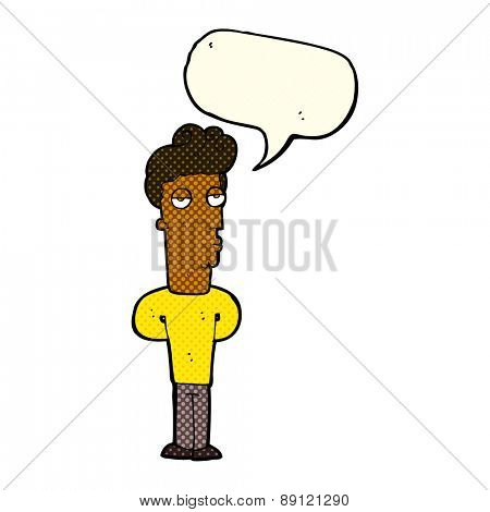 cartoon person with word balloon