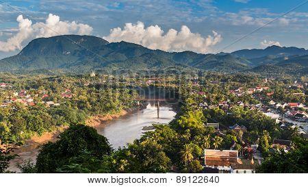 Viewpoint At Luang Prabang In Laos.