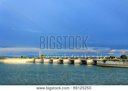Pa Sak Jolasid Dam, Lopburi,thailand